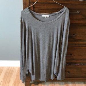Gray cotton shirt. Long sleeve